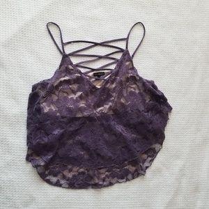 Purple Lace Tank